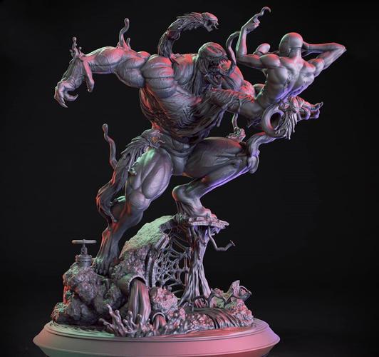 3d Printed Venom Vs Spiderman 3d Print Model By Miguil Pinshape