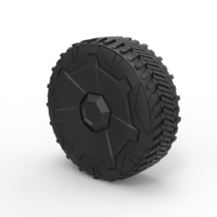 Small Diecast Wheel from Tesla Cyberpunk truck 3D Printing 269557
