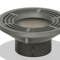 Small Floor Drain Grate Round 200x100 with 110 hole for balcony 3D Printing 269675