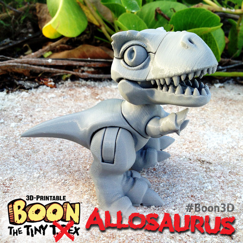 Boon the Tiny T. Rex: Allosaurus UpKit (Arms ONLY) 3DKitbash.com 3D Print 26968