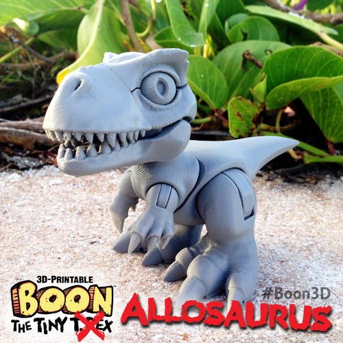 Boon the Tiny T. Rex: Allosaurus UpKit (Arms ONLY) 3DKitbash.com 3D Print 26970