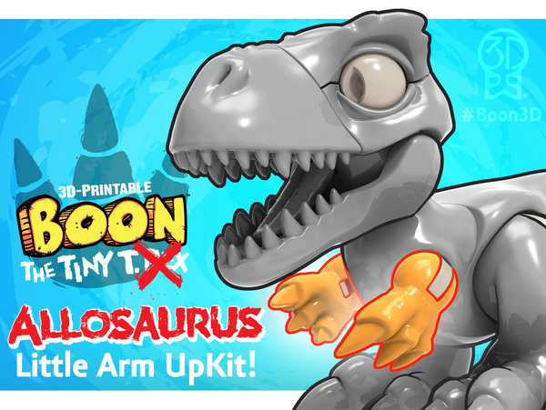 Medium Boon the Tiny T. Rex: Allosaurus UpKit (Arms ONLY) 3DKitbash.com 3D Printing 26972