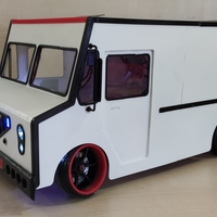 Small Delivery Van Rc 1/10 Rc Body 3D Printing 269722