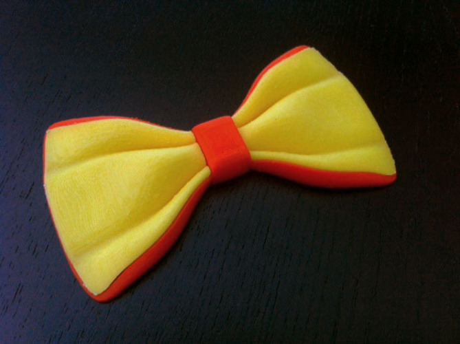 Two color bow-tie - single extruder 3D Print 26978
