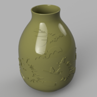 Small vase real witch circle  pot for magic ritual for 3d-print or cnc 3D Printing 269970