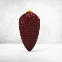 Small Christmas Ball - Cristal Pine Cone (LowPoly) 3D Printing 270371