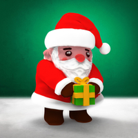 Small Christmas Ornament - Cute Santa Claus (3 files) 3D Printing 270377