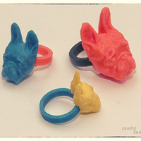 Small French Buldog  - RING (universal 4 ring size)  3D Printing 27045