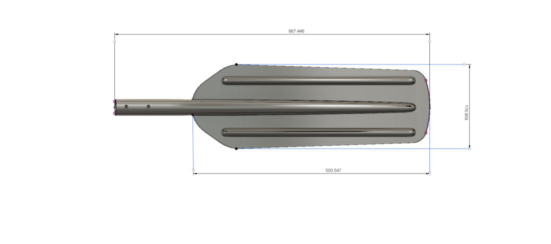 A real paddle blade for a rowing boat for 3d print cnc  3D Print 270464