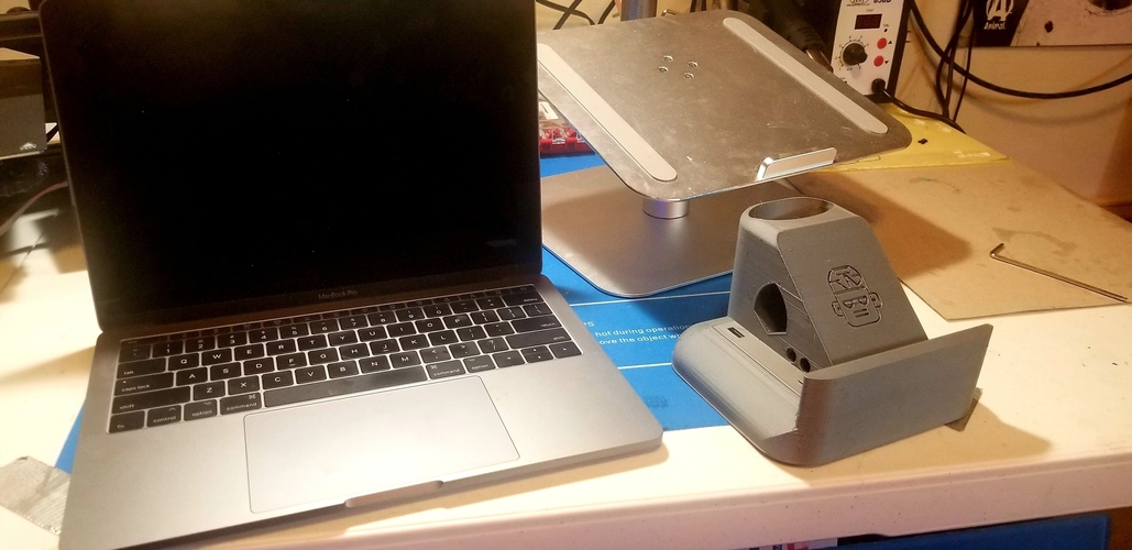 Macbook and Laptop Stand - No supports! Additional storage! 3D Print 270608