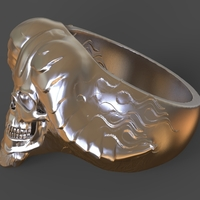 Small Devil Ring 3D Printing 270793