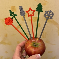 Small Holiday Party Cocktail Stirrers - Swizzle Sticks 3D Printing 270864