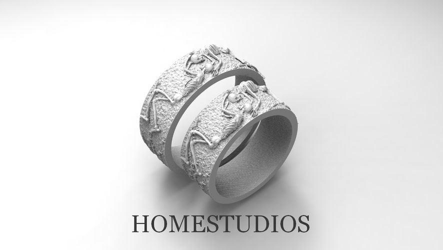 RING FOREVER SKELETONS 3D Print 270911