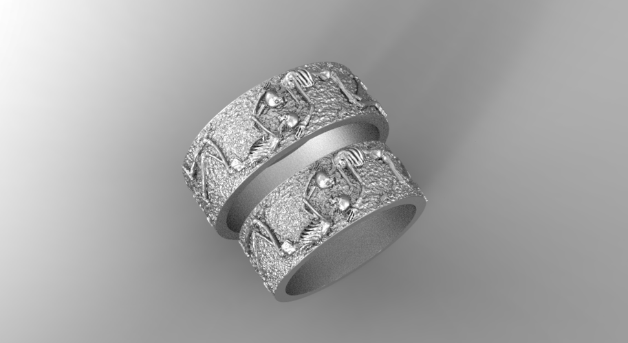 RING FOREVER SKELETONS 3D Print 270912