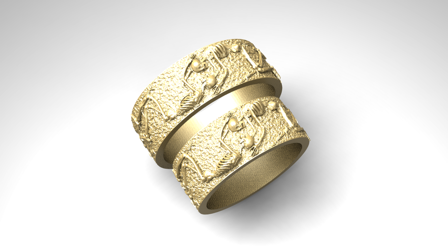 RING FOREVER SKELETONS 3D Print 270913