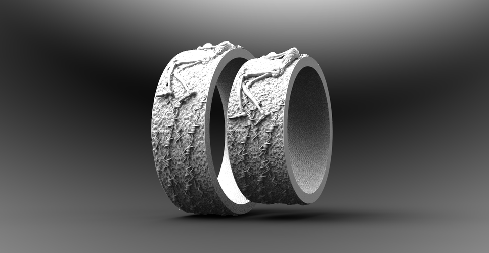 RING FOREVER SKELETONS 3D Print 270914