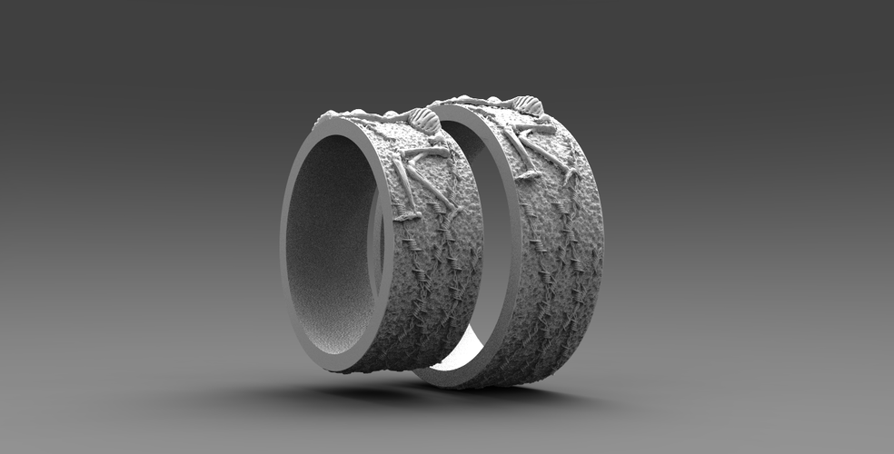 RING FOREVER SKELETONS 3D Print 270915