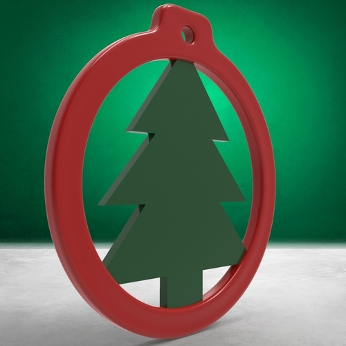 Christmas Balls - Rings with Christmas Ornaments (4 files) 3D Print 271088