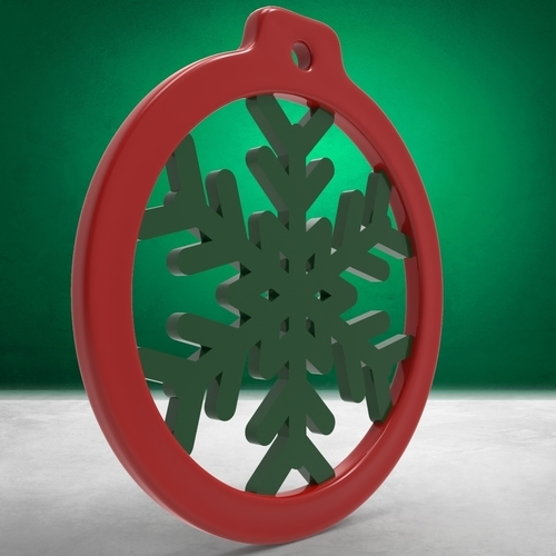 Christmas Balls - Rings with Christmas Ornaments (4 files) 3D Print 271095