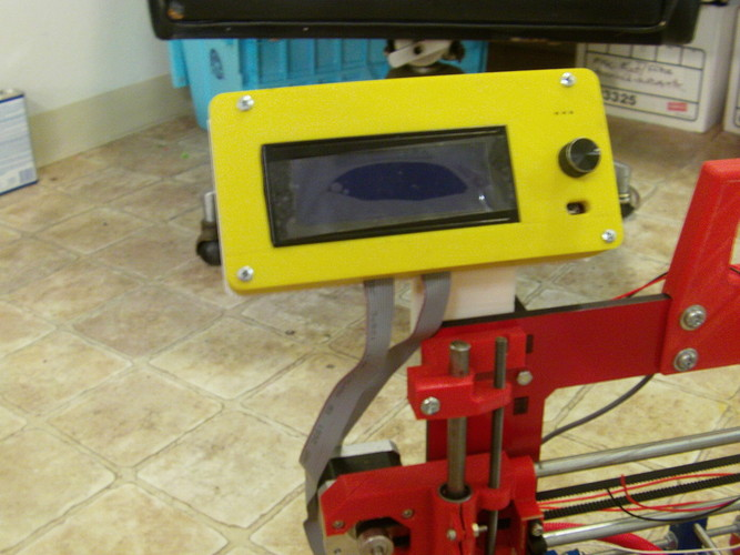 Smart LCD Case Mount for the Prusa i3 Rework 3D Print 27110