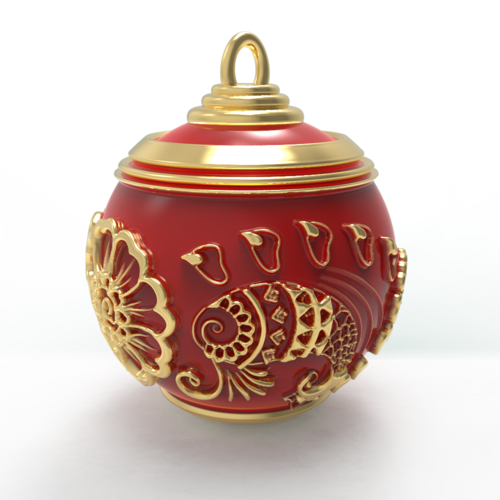Christmas Ball - Deluxe Scarlet Romance 3D Print 271101