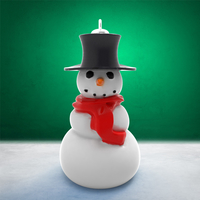 Small Christmas Ornament - Snowman (2 files) 3D Printing 271114