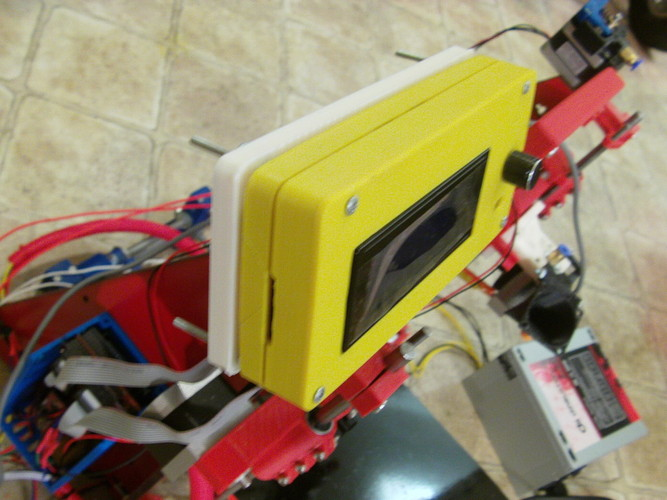 Smart LCD Case Mount for the Prusa i3 Rework 3D Print 27112
