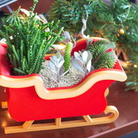Small Christmas Sleigh Decor/Planter 3D Printing 271238