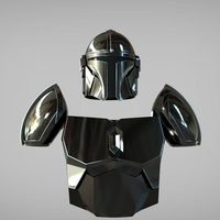 Small Full Beskar armor from The Mandalorian UPDATED 3D print model 3D Printing 271392