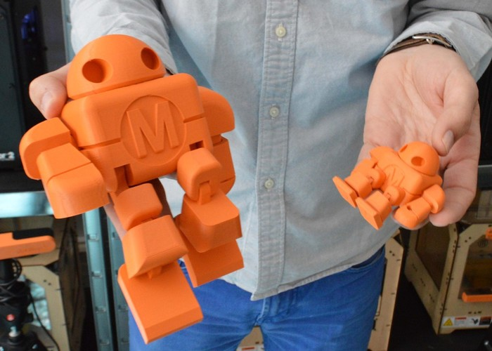 Mini Maker Faire Robot Action Figure 3D Print 2714