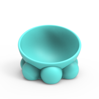 Small Cute Pet Food Bowl Easy to Print 3D Printing 271403