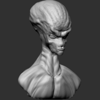Small Alien Head  3D Printing 271434