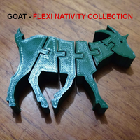 Small Flexi Goat - Nativity Collection - Cabra  3D Printing 271484