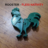 Small Flexi Rooster - Nativity Collection - Gallo 3D Printing 271492