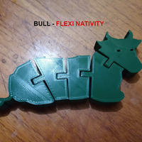 Small Bull resting - Nativity Collection - Toro sentado 3D Printing 271495