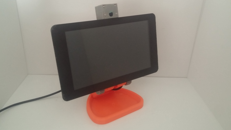 PiMac - Raspberry Pi 7 Inch Touch Screen Stand (with Camera) V2 3D Print 271498