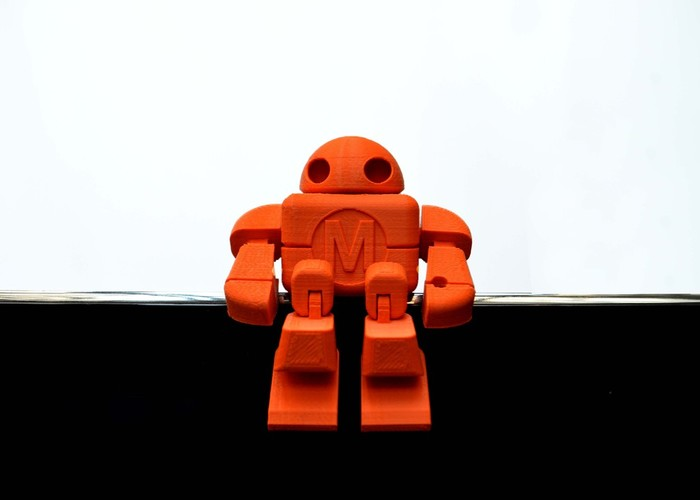 Mini Maker Faire Robot Action Figure 3D Print 2715