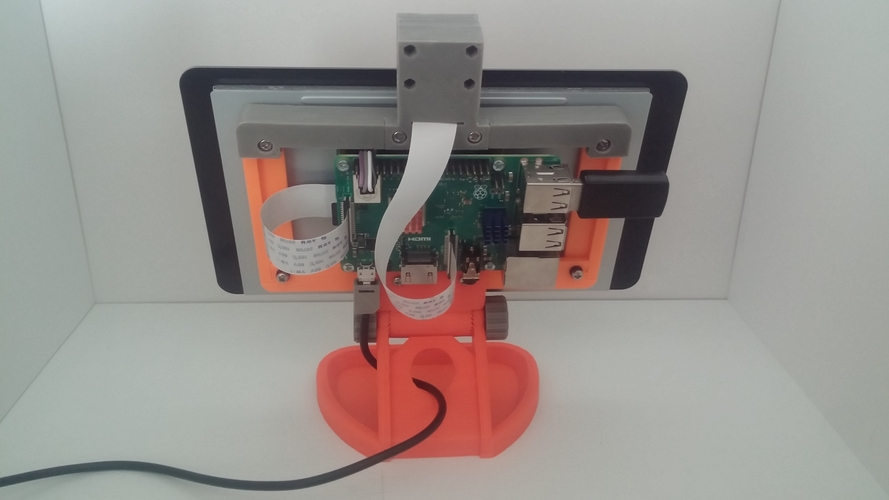 PiMac - Raspberry Pi 7 Inch Touch Screen Stand (with Camera) V2 3D Print 271500