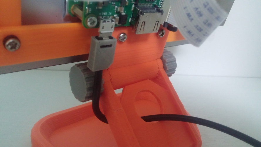 PiMac - Raspberry Pi 7 Inch Touch Screen Stand (with Camera) V2 3D Print 271505