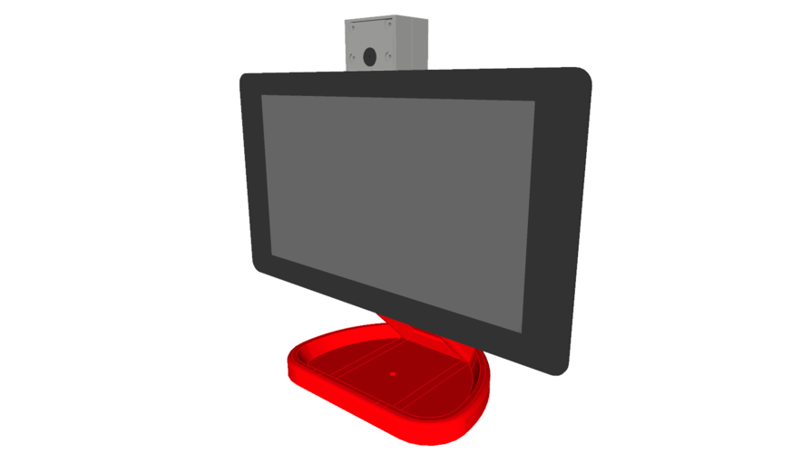 PiMac - Raspberry Pi 7 Inch Touch Screen Stand (with Camera) V2 3D Print 271511