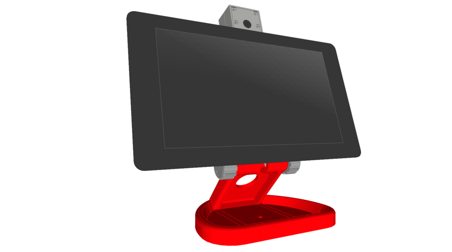 PiMac - Raspberry Pi 7 Inch Touch Screen Stand (with Camera) V2 3D Print 271516