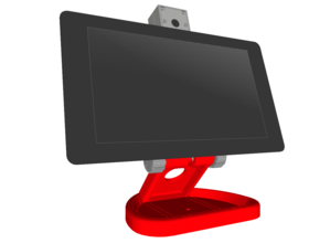 Pin PiMac - Raspberry Pi 7 Inch Touch Screen Stand (with Camera) V2 3D Printing 271516