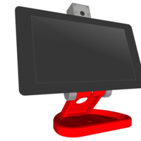 Small PiMac - Raspberry Pi 7 Inch Touch Screen Stand (with Camera) V2 3D Printing 271516