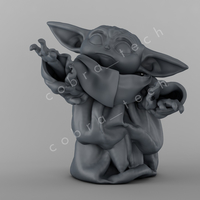 Small Baby Yoda Star Wars The Mandalorian 3D Printing 271891