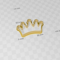 Small princess crown, corona princesa, molde cookies cutter 3D Printing 272005