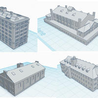 Small 3mm scale Industrial Revolution Buildings 3D Printing 272049