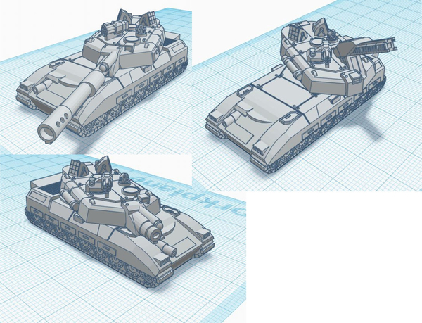 Medium Leopard Battle Tank - Old Earth Resistance - 10mm 3D Printing 272086