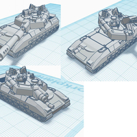 Small Leopard Battle Tank - Old Earth Resistance - 10mm 3D Printing 272086