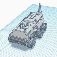 Small Baserunner APC - Old Earth Resistance - 10mm 3D Printing 272106