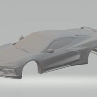 Small chevrolet corvette c8 2020 3D Printing 272274